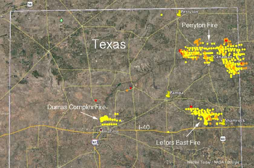 Three Fires In Texas Panhandle Have Burned Over 400 000 Acres