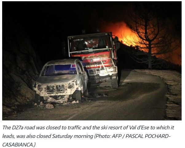 damaged fire engines