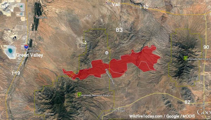 map Sawmill Fire Arizona