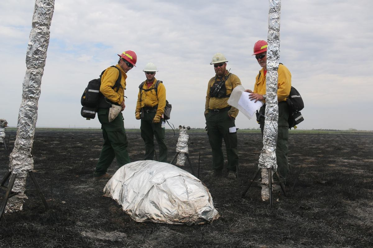 Researchers testing fire shelter prototypes on South Dakota prescribed burns