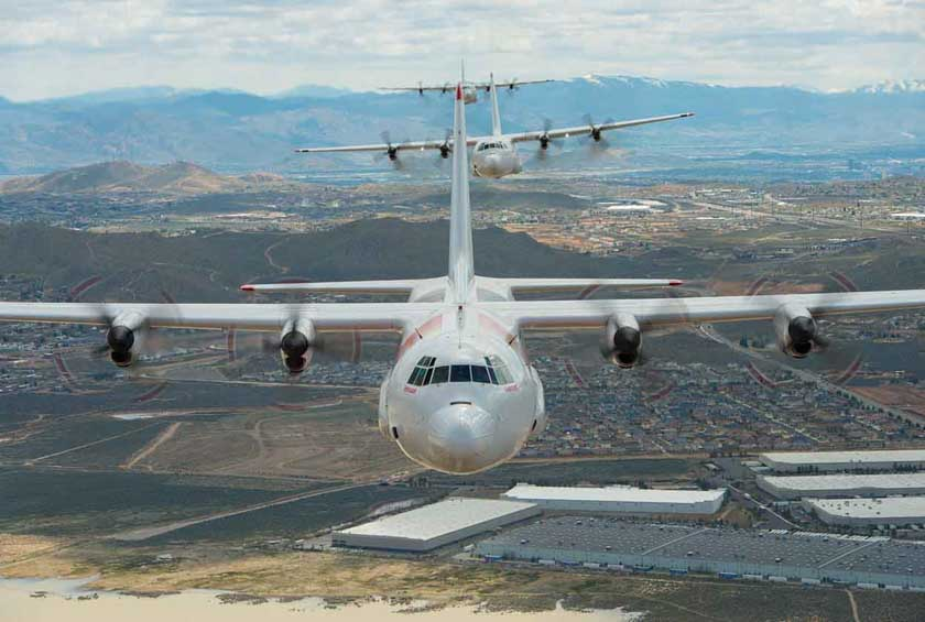 Coulson's three C-130 air tankers