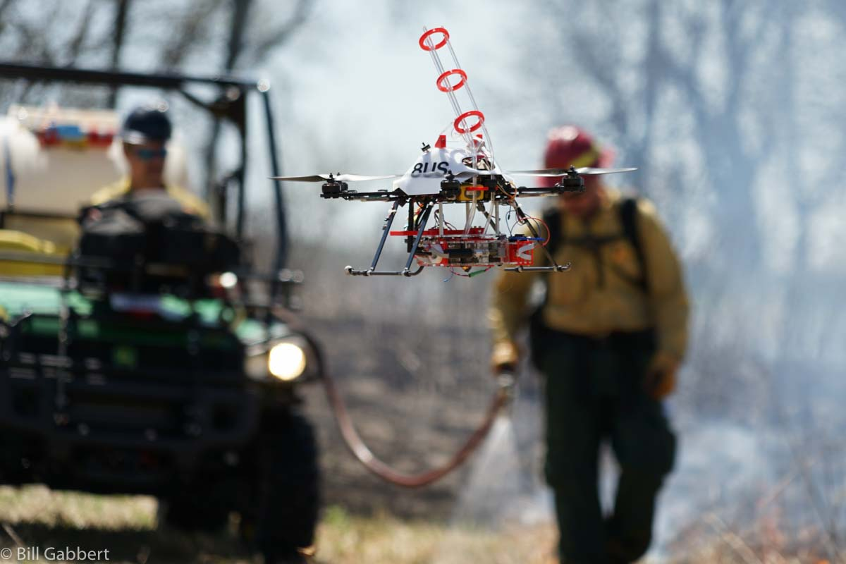A drone is used to assist in wildlfire operations, as shown in this file photo from Bill Gabbert.