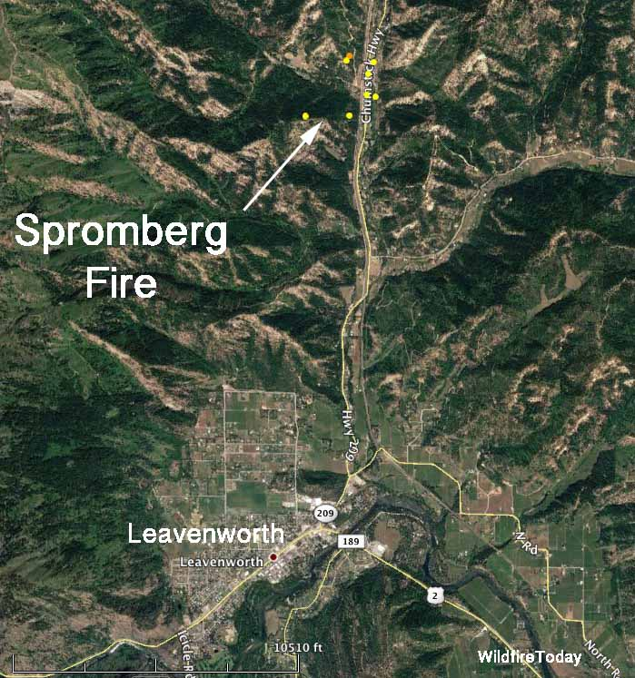 Spromberg Fire map