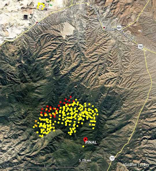 Pinal Fire map