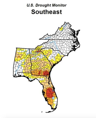 Florida drought monitor report May 18, 2017.