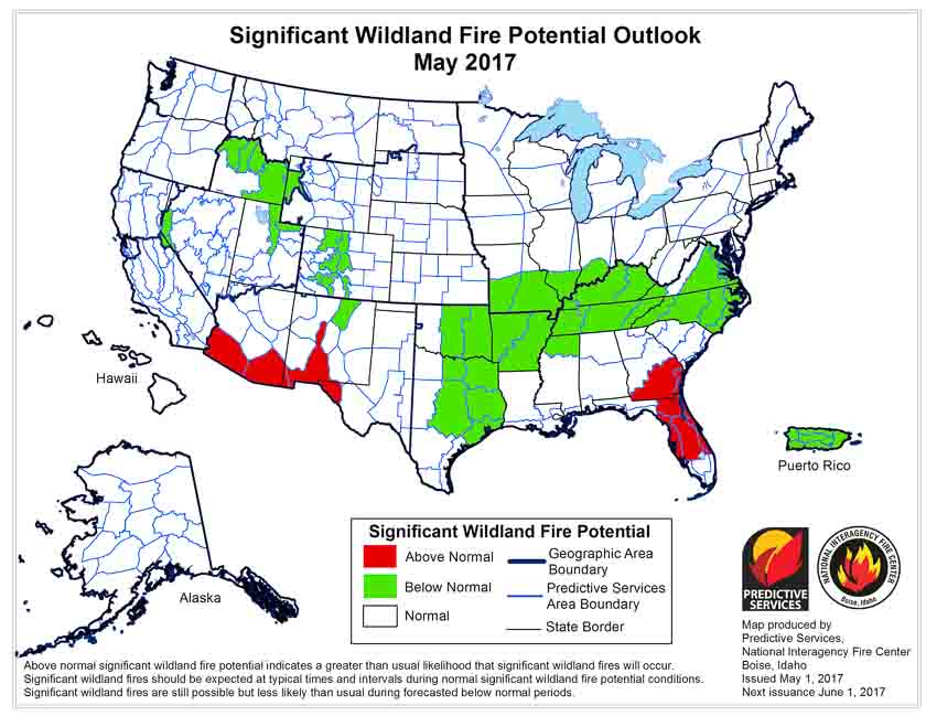 wildfire potential may 2017
