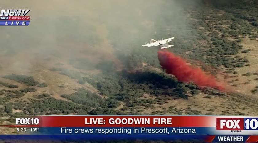 C-130 Drop Goodwin Fire