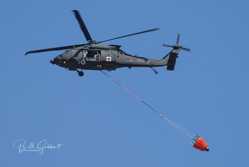 Chilson Fire blackhawk helicopter