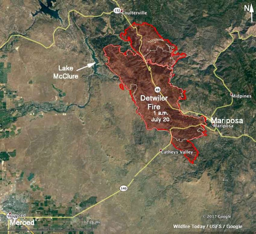 Map Detwiler Fire