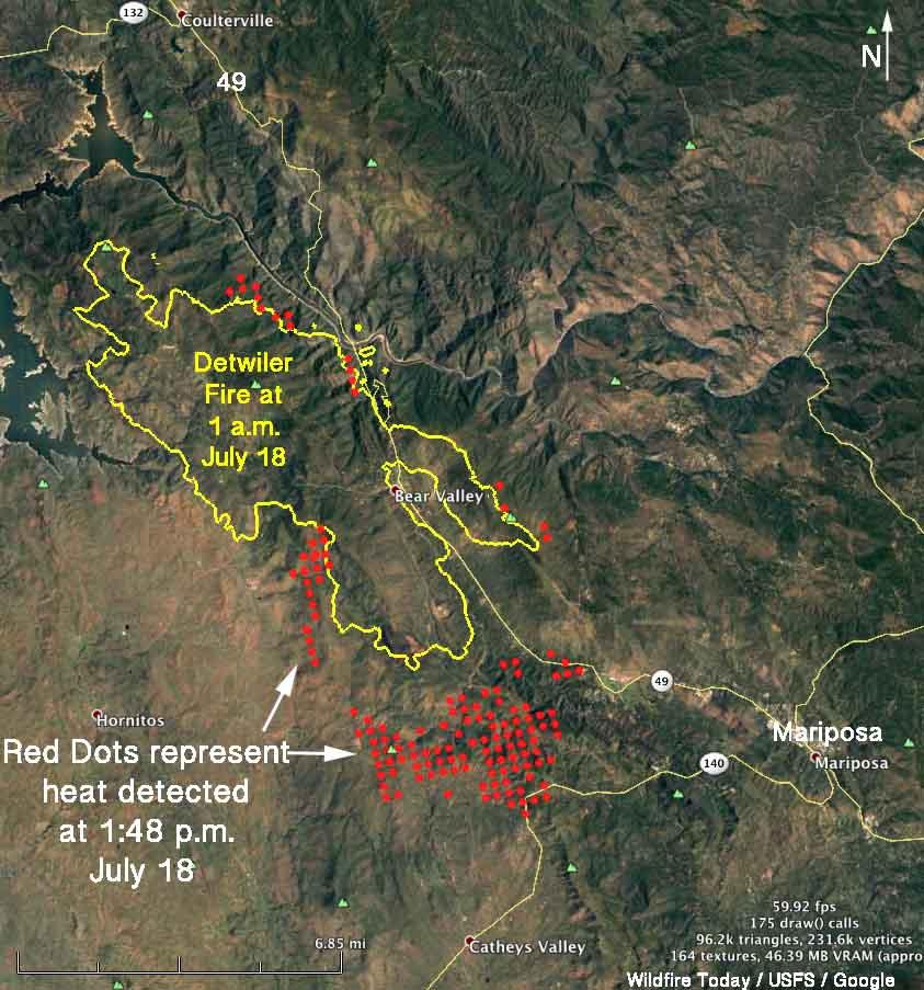 map of Detwiler Fire