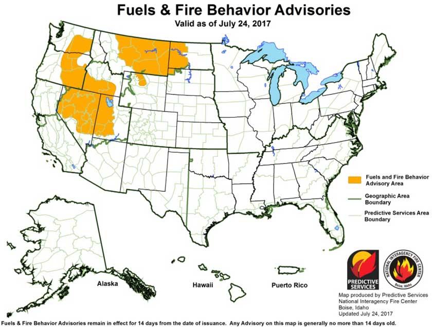 fuels fire advisory