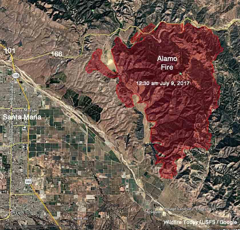 Alamo Fire Grows To 23 000 Acres Near Santa Maria California