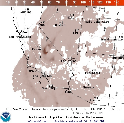 wildfire smoke forecast