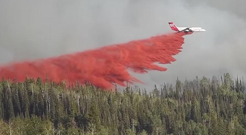 Mill Creek Fire Colorado air tanker 02