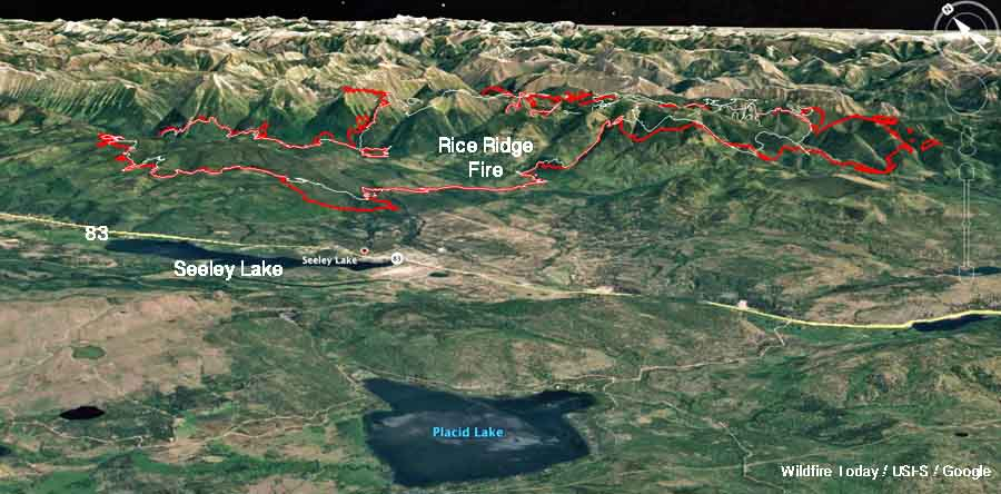 Rice Ridge Fire forces evacuations at Seeley Lake, Montana