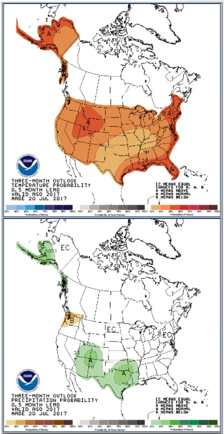 90 day outlook weather