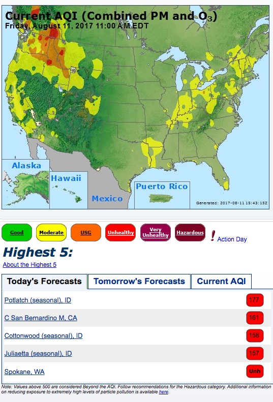 smoke air quality index