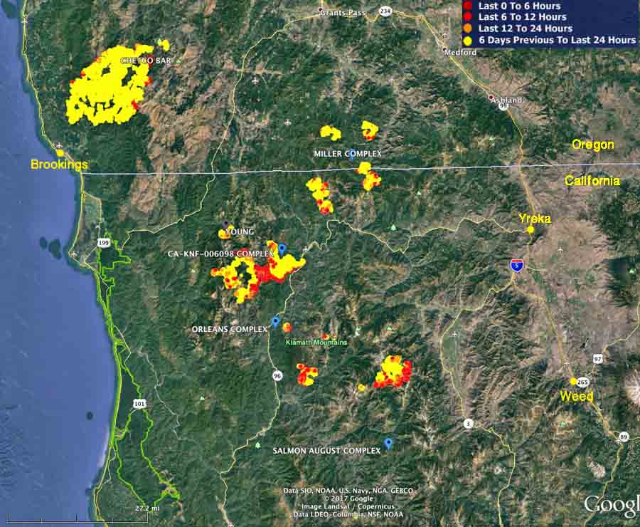 Wildfire Activity Continues In Northwest California And Southwest - Us-wildfire-activity-map