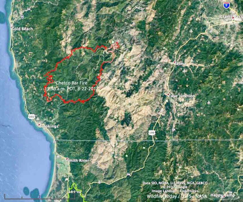 map Chetco Bar Fire
