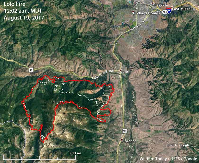 Lolo Fire map