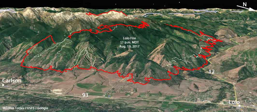 Firefighters are making progress in some areas on the Lolo Peak Fire