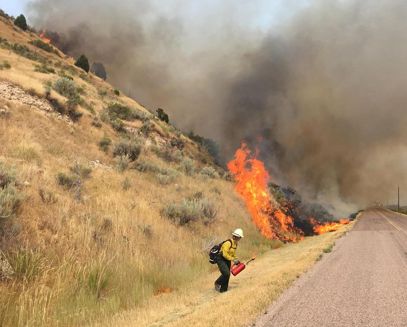 400 firefighter hand crews are deployed on fires in the United States