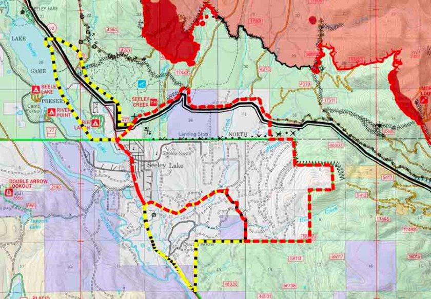evacuation map rice ridge fire