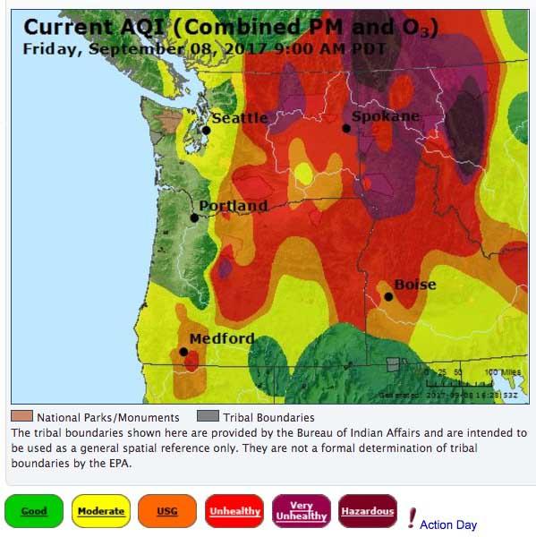 Air Quality Index fire smoke
