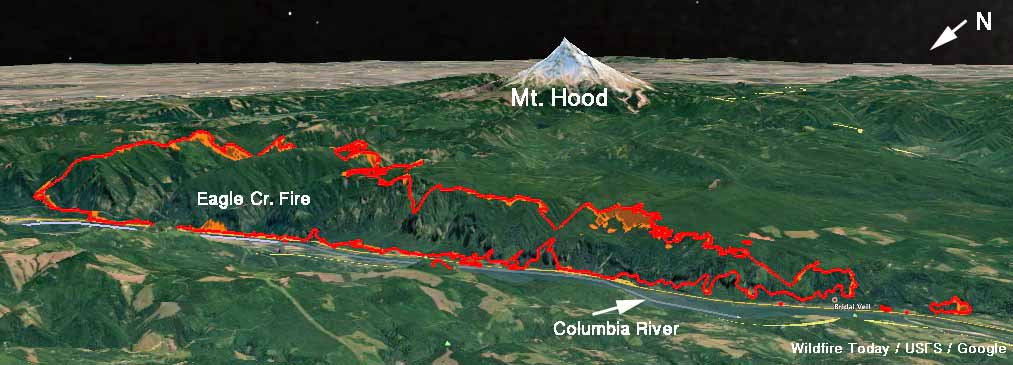 Eagle Creek fire burns structures and forces evacuations along the Columbia River Gorge