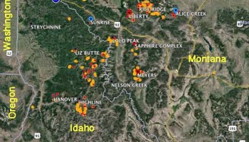 Maps Of Wildfires In The Northwest US Wildfire Today - Northwestern us map