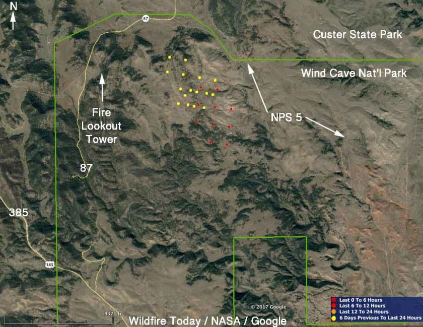 map Rankin Fire