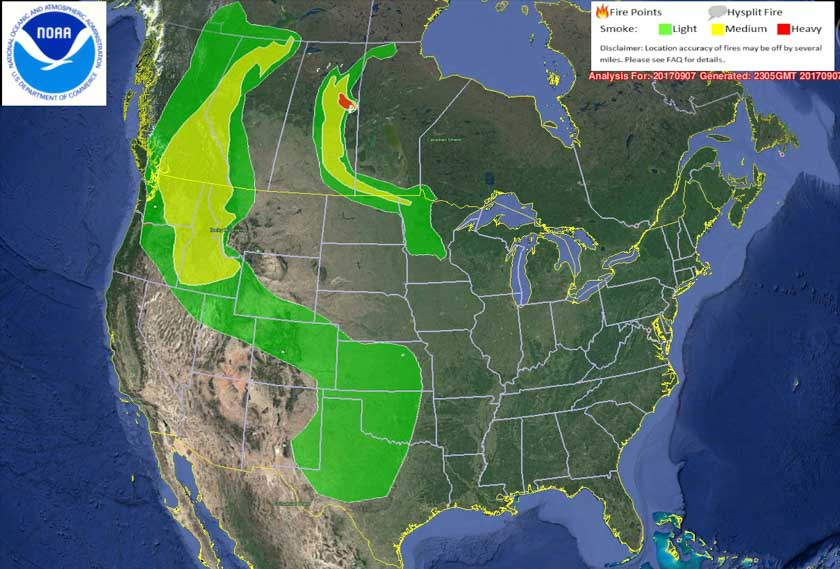 smoke map wildfire