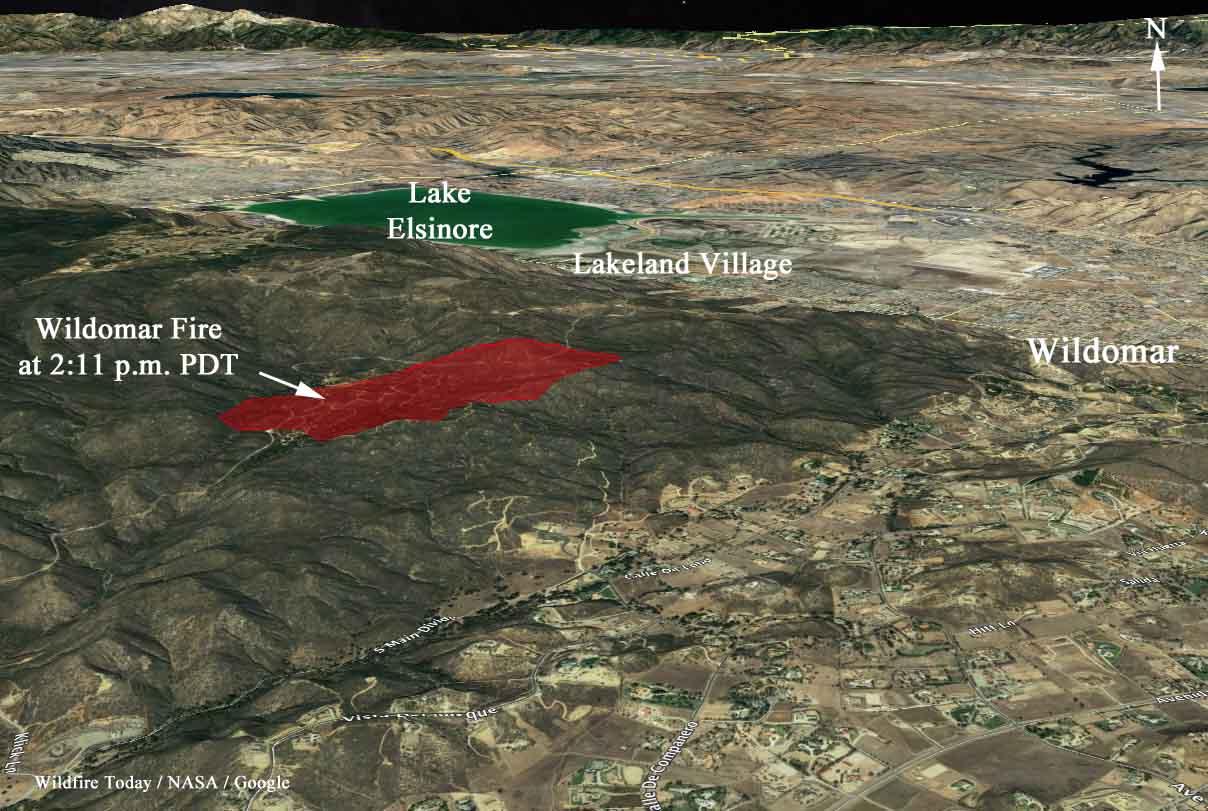 Wildomar Fire Burns Hundreds Of Acres Near Wildomar California