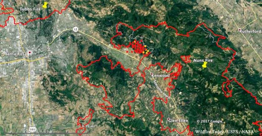 map nuns fire