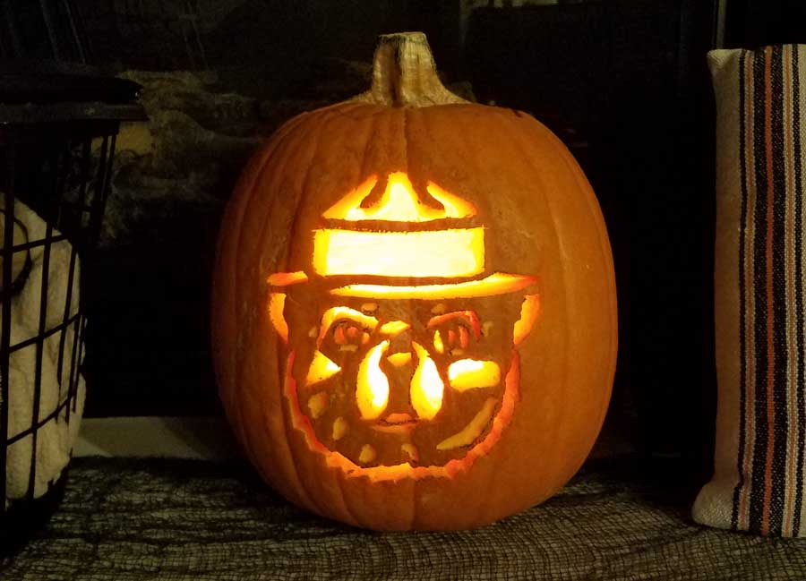 Smokey Bear Jack O'Lanterns 2017