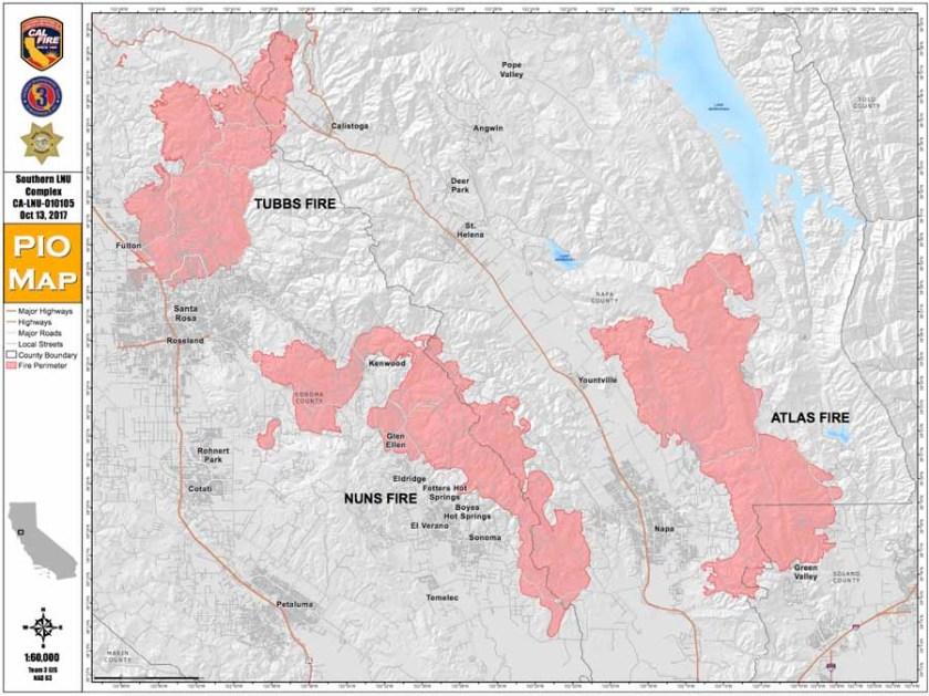 Map Tubbs, Nuns Atlas Fires