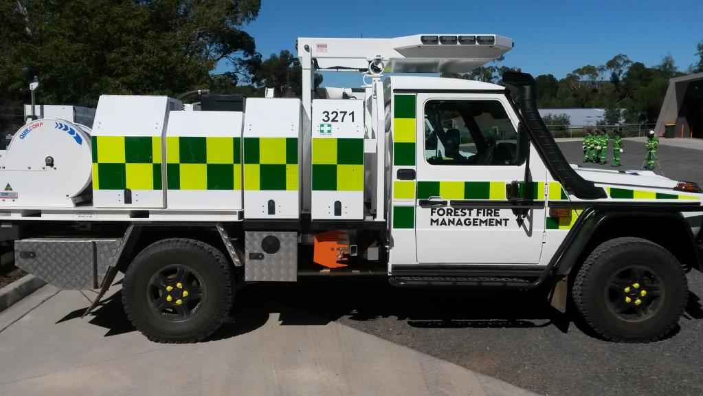Victoria's new fire engines have rollover and tree protection