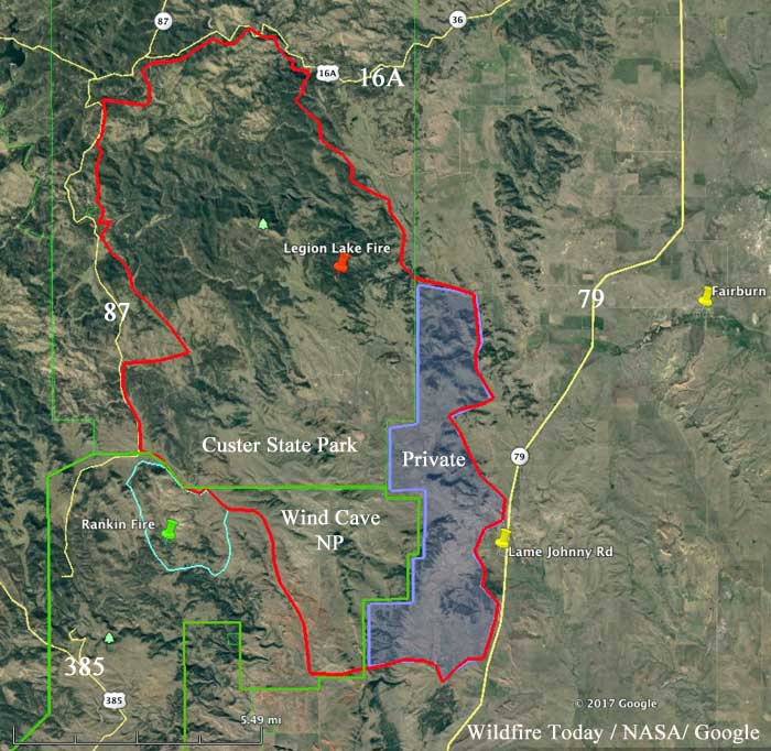 Legion Lake Fire S Effect On Bison And Ranches Wildfire Today