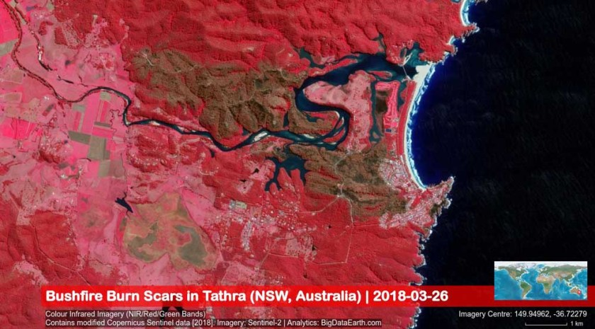map tathra New South Wales wildfire