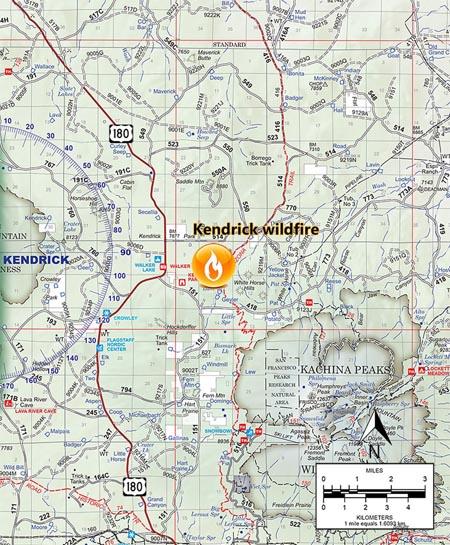 map kendrick fire