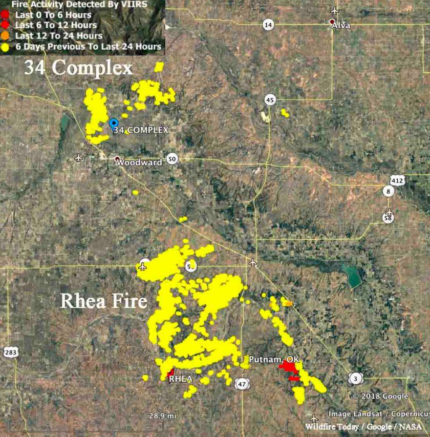 map rhea 34 complex wildfires