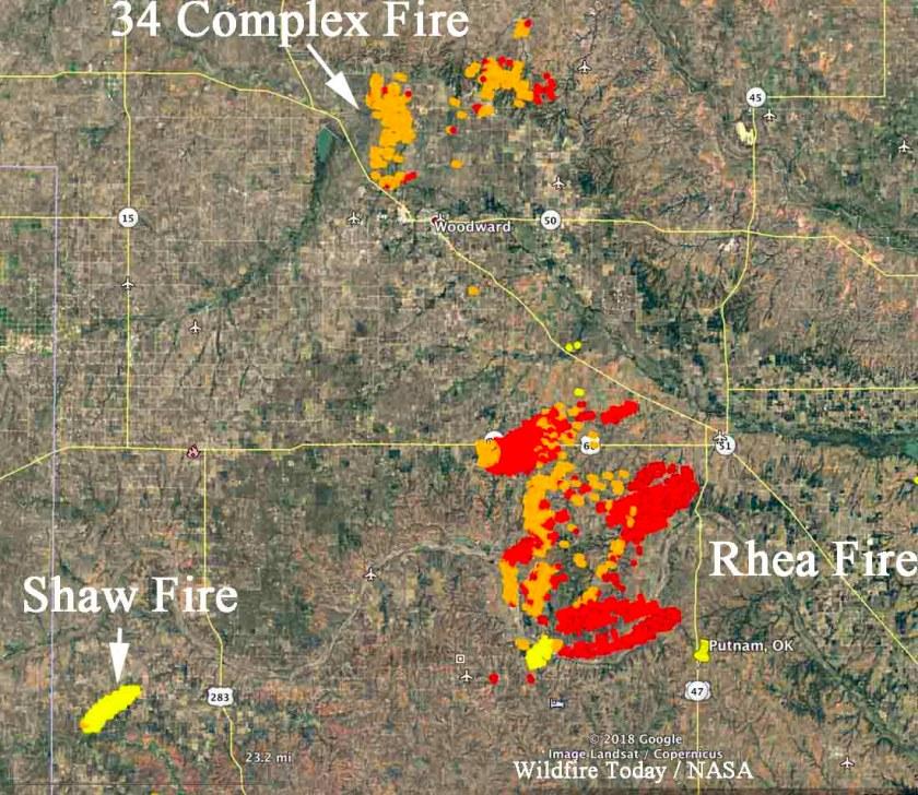 satellite wildfires Oklahoma
