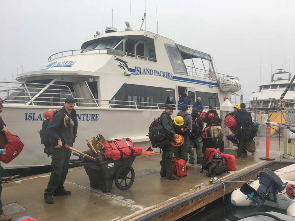 Sierra Hotshots boat Santa Cruz fire