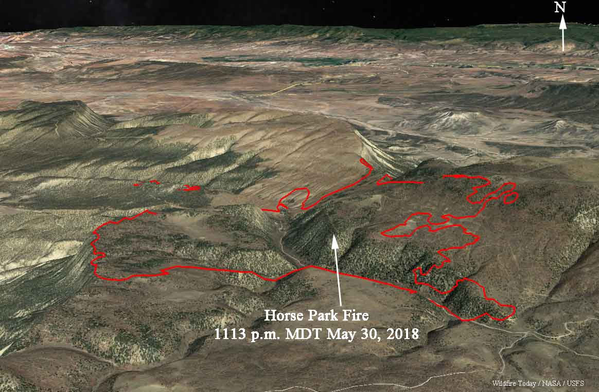 Spread of Horse Park Fire slows, but wind event predicted for Thursday afternoon