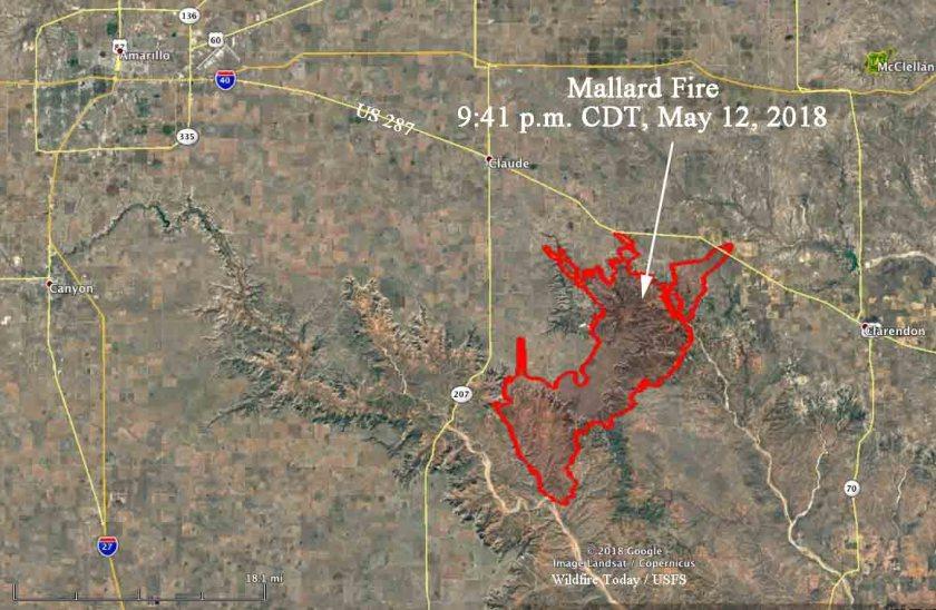 map mallard fire