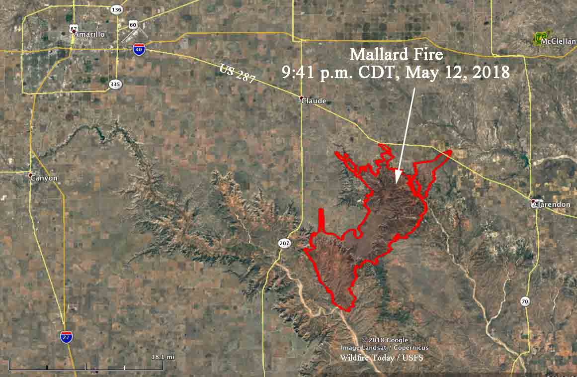 Mallard Fire In Texas Reaches Highway 287 Wildfire Today