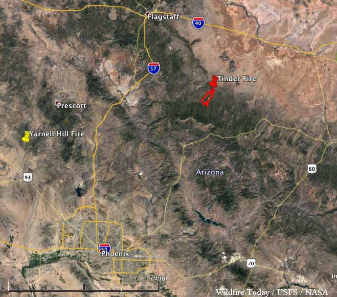 map Tinder Fire Arizona