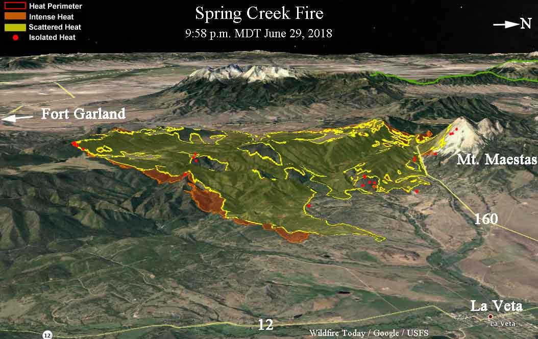 3 D Springcreekfire958pm 6 29 2018 Wildfire Today