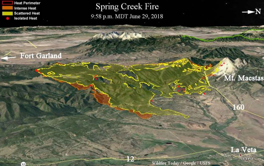 3-D map Spring Creek Fire
