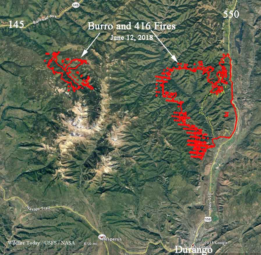 Fire North Of Durango Continues Westward Expansion Wildfire Today